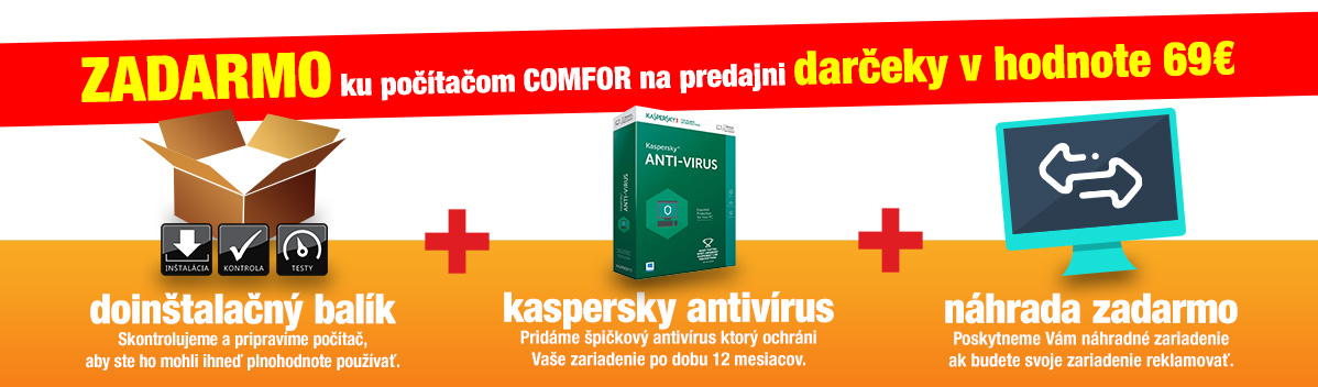 darčeky v hodnote 69€ ku Comfor
